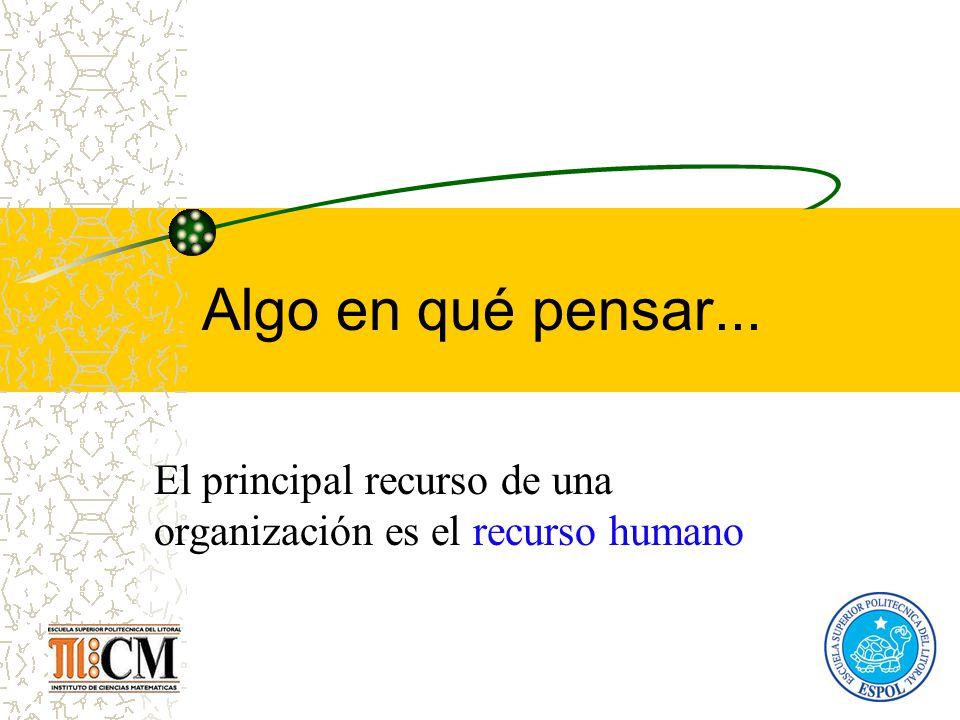 El principal recurso de una organización es el recurso humano