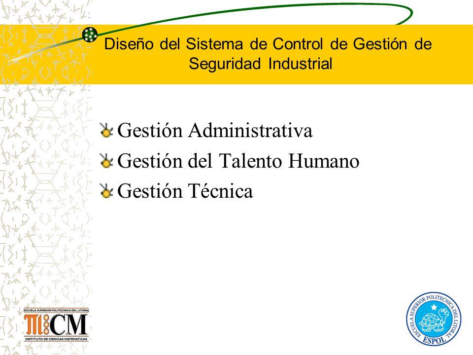 Diseño del Sistema de Control de Gestión de Seguridad Industrial