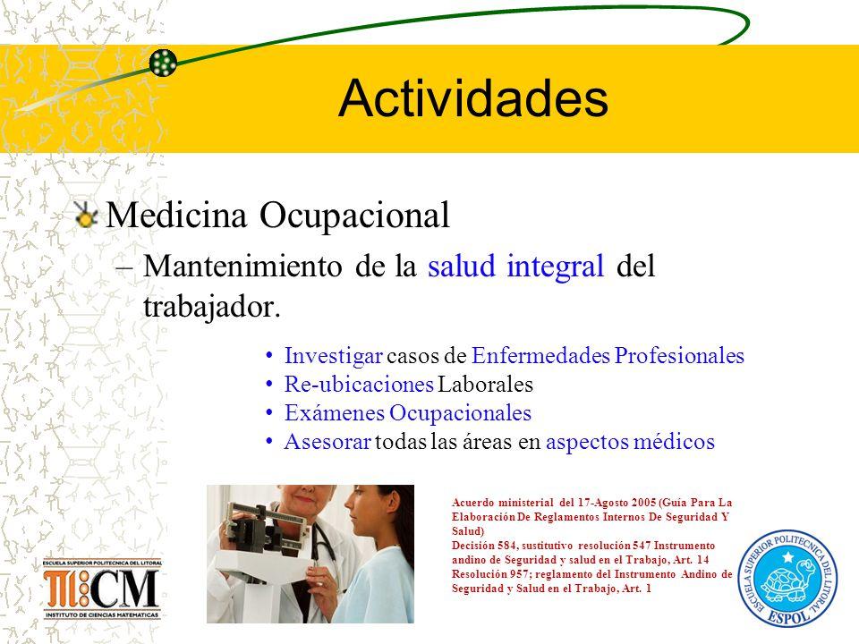 Actividades Medicina Ocupacional