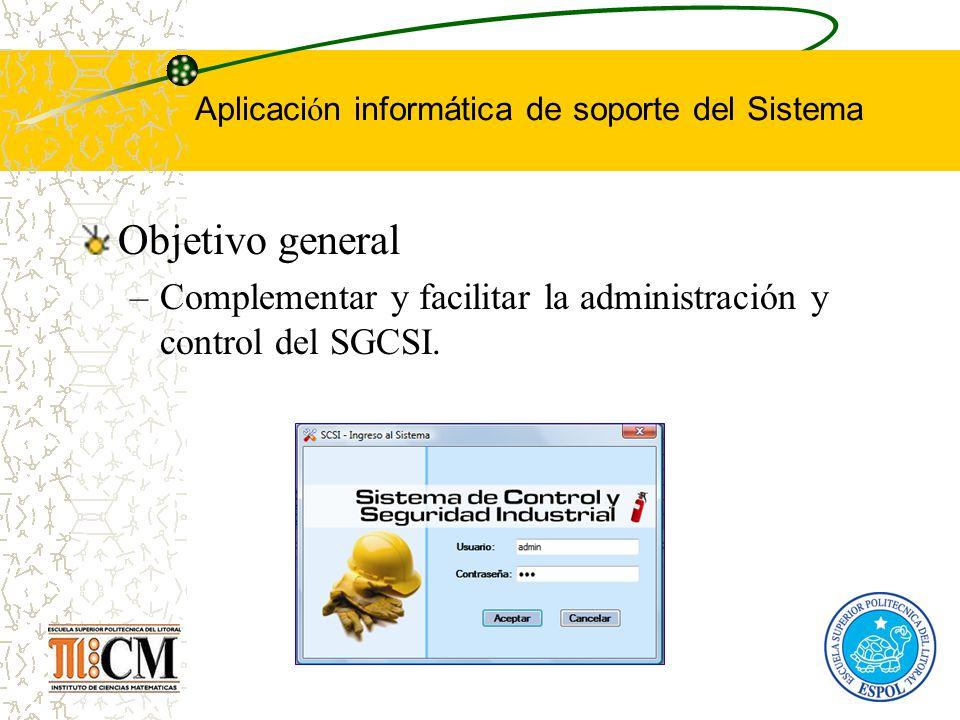 Aplicación informática de soporte del Sistema