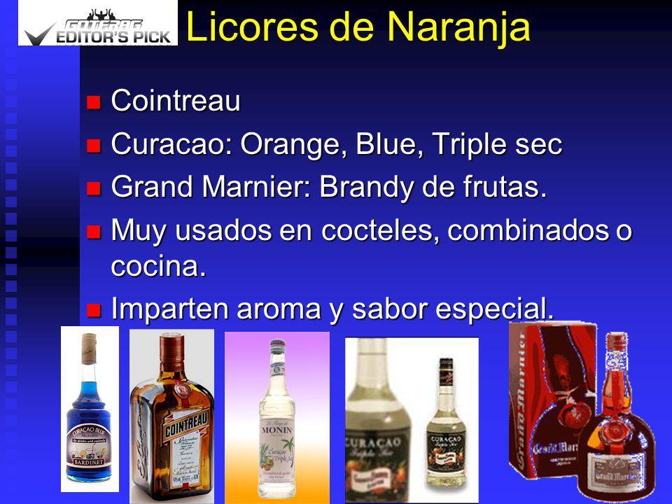 Licores de Naranja Cointreau Curacao: Orange, Blue, Triple sec
