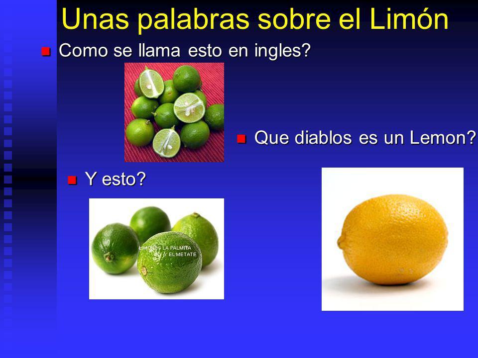 Unas palabras sobre el Limón