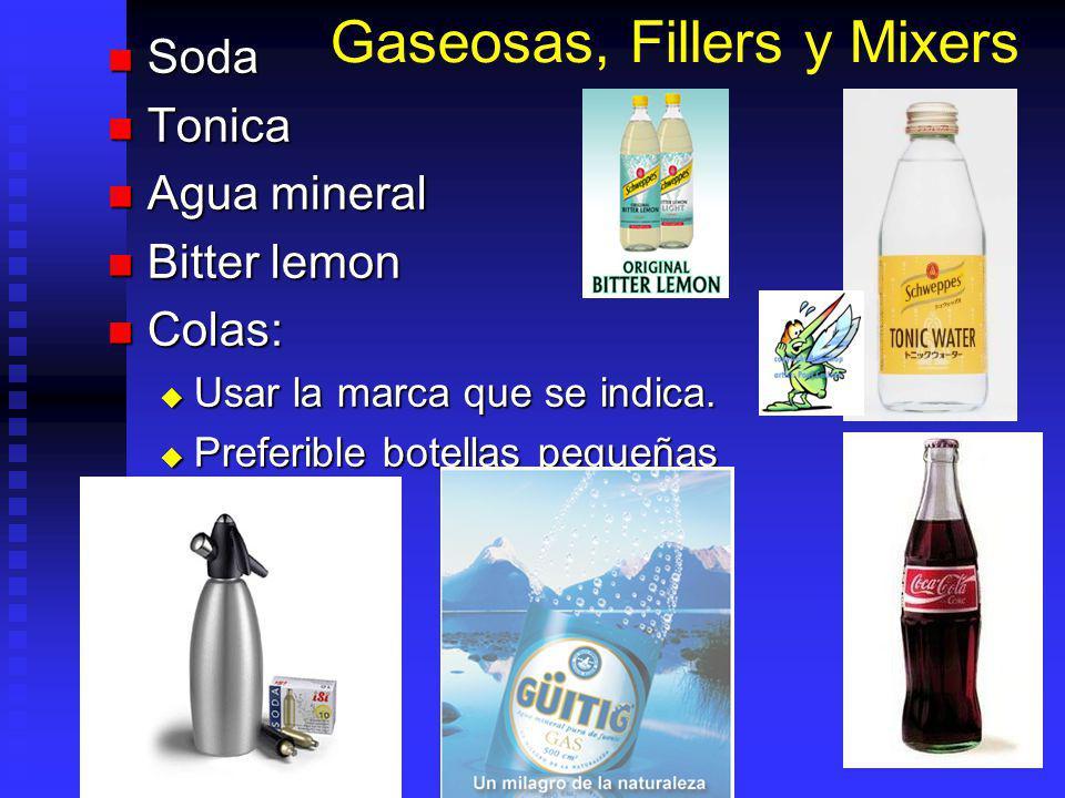 Gaseosas, Fillers y Mixers