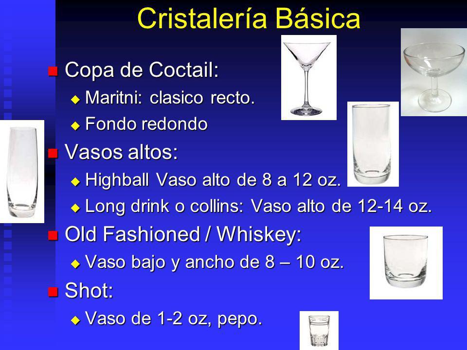 Cristalería Básica Copa de Coctail: Vasos altos: