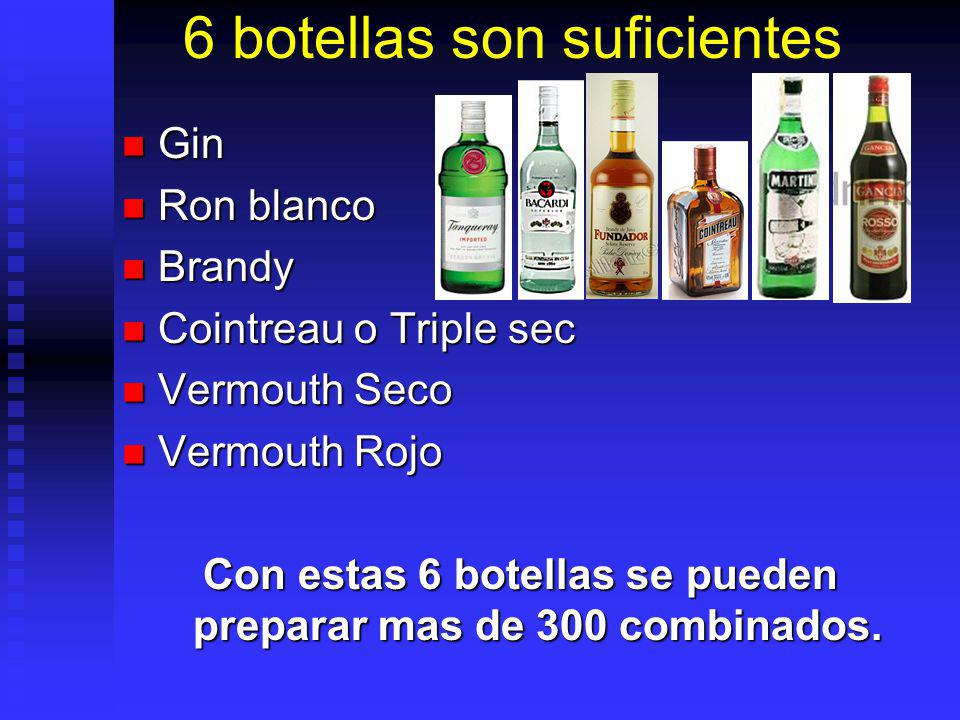 6 botellas son suficientes