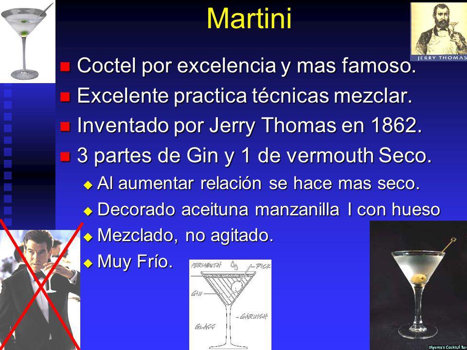 Martini Coctel por excelencia y mas famoso.