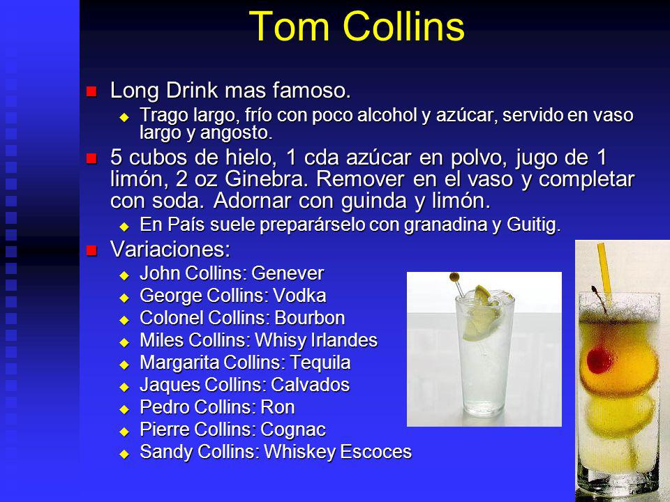 Tom Collins Long Drink mas famoso.