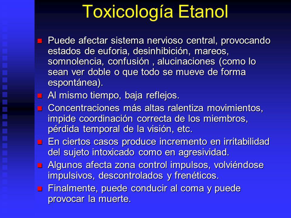Toxicología Etanol