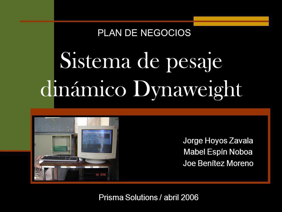 Sistema de pesaje dinámico Dynaweight