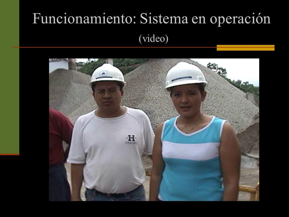 Funcionamiento: Sistema en operación (video)