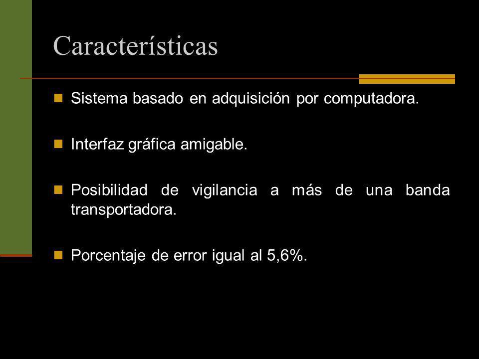 Características Sistema basado en adquisición por computadora.