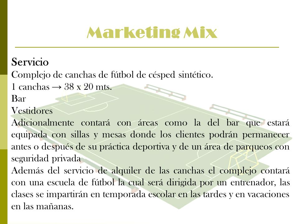 Marketing Mix Servicio