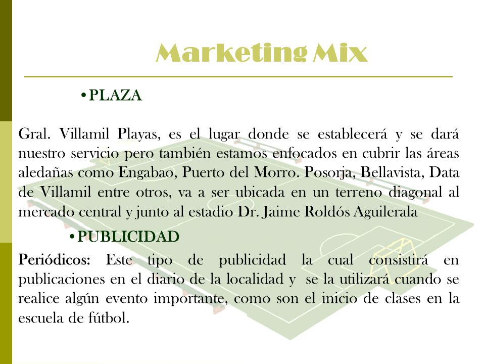 Marketing Mix PLAZA.