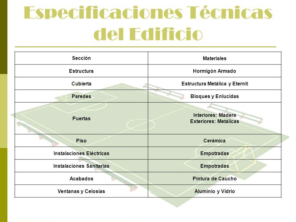 Especificaciones Técnicas del Edificio