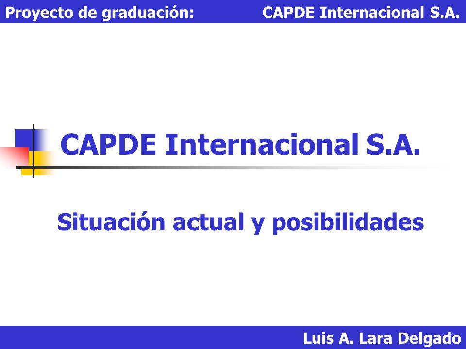 CAPDE Internacional S.A. Situación actual y posibilidades