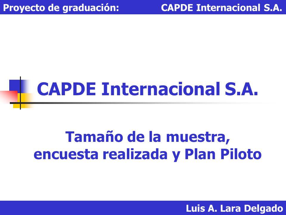 CAPDE Internacional S.A.