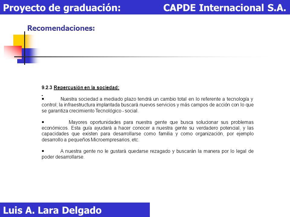 Proyecto de graduación: CAPDE Internacional S.A.