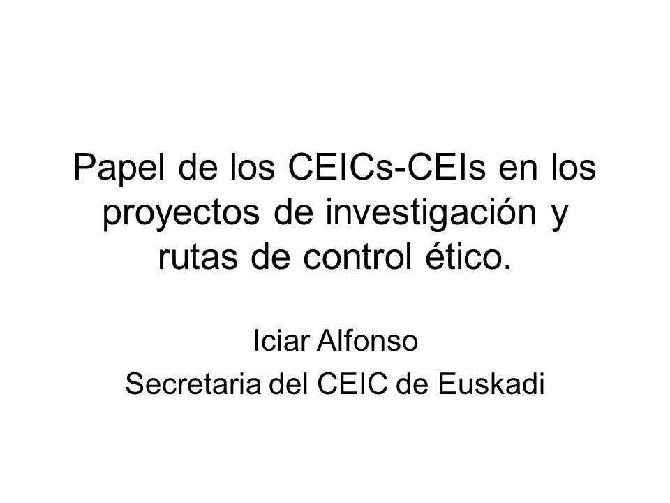 Iciar Alfonso Secretaria del CEIC de Euskadi