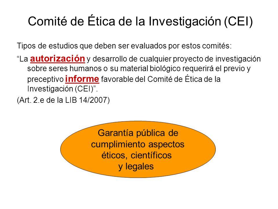 Comité de Ética de la Investigación (CEI)