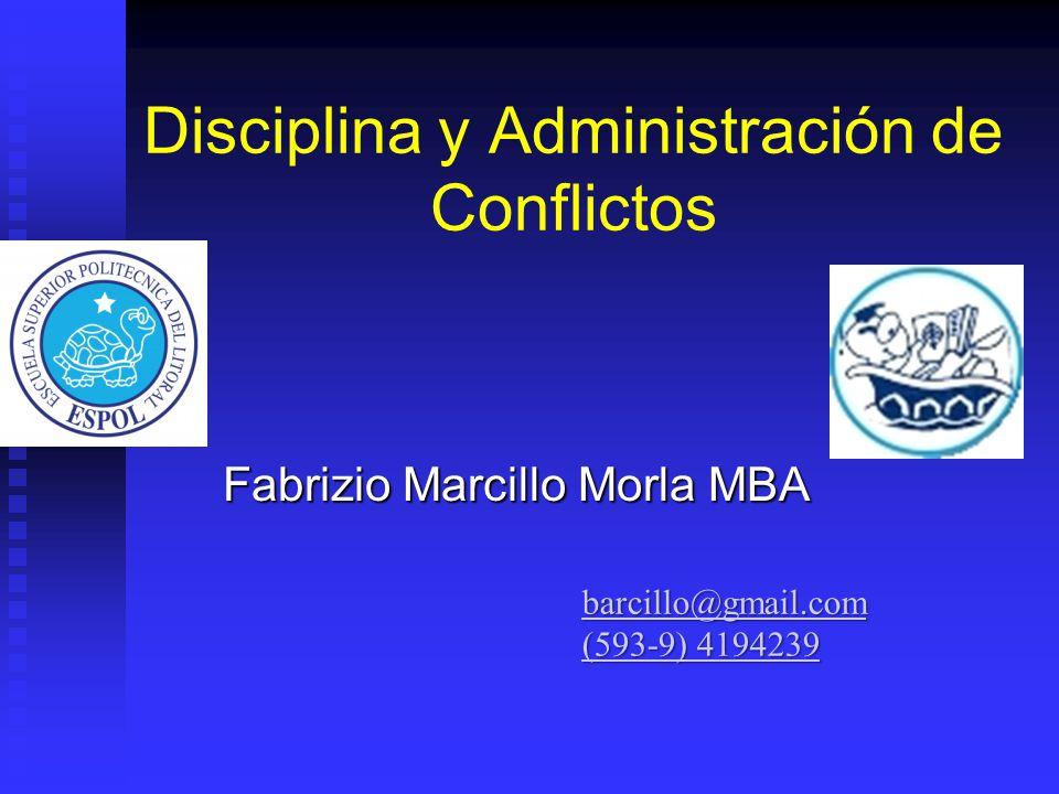 Disciplina y Administración de Conflictos