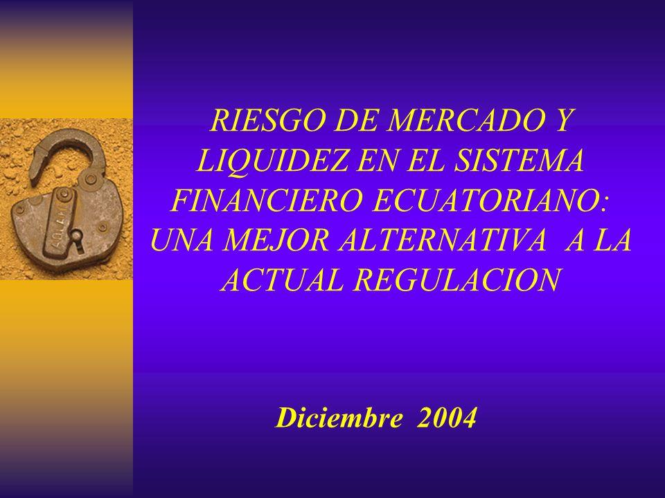 RIESGO DE MERCADO Y LIQUIDEZ EN EL SISTEMA FINANCIERO ECUATORIANO: UNA MEJOR ALTERNATIVA A LA ACTUAL REGULACION