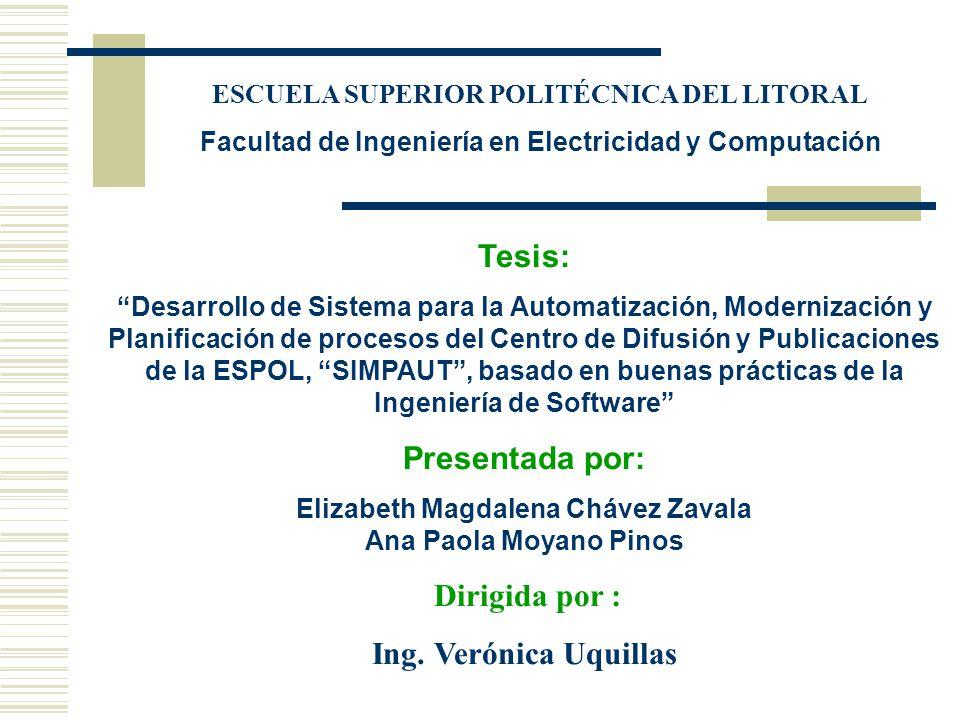 Tesis: Presentada por: Ing. Verónica Uquillas