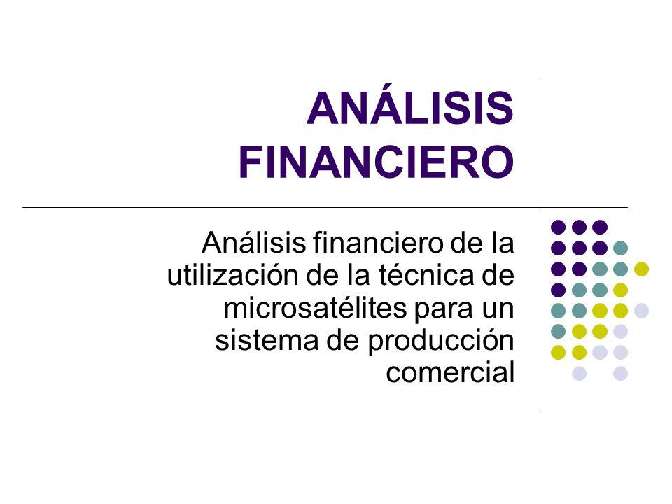 ANÁLISIS FINANCIERO Análisis financiero de la utilización de la técnica de microsatélites para un sistema de producción comercial.