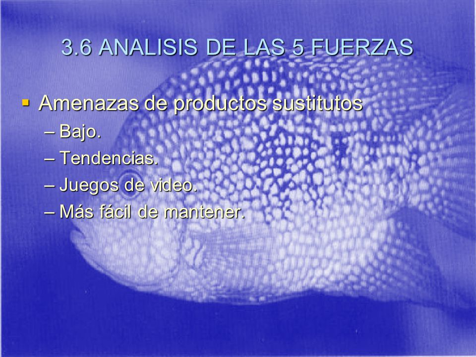 3.6 ANALISIS DE LAS 5 FUERZAS
