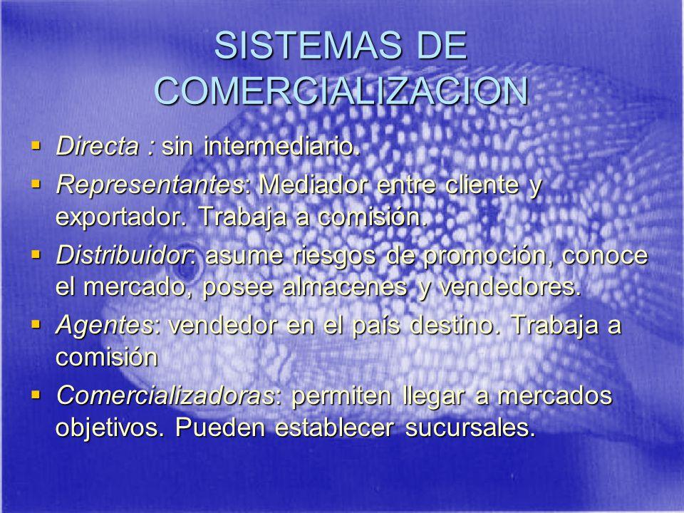 SISTEMAS DE COMERCIALIZACION