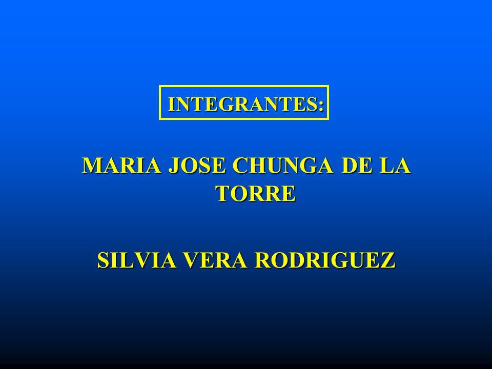 MARIA JOSE CHUNGA DE LA TORRE