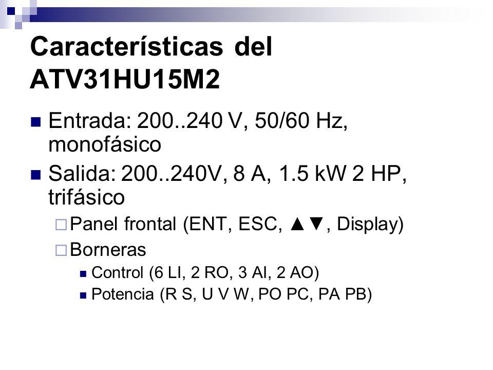 Características del ATV31HU15M2