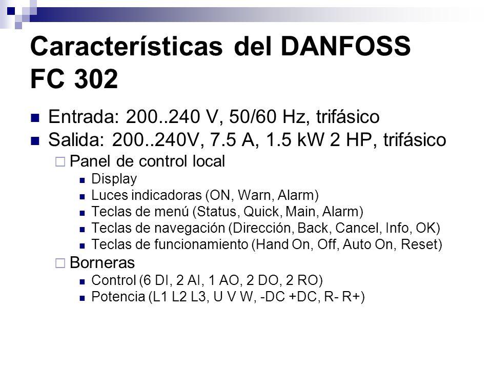 Características del DANFOSS FC 302