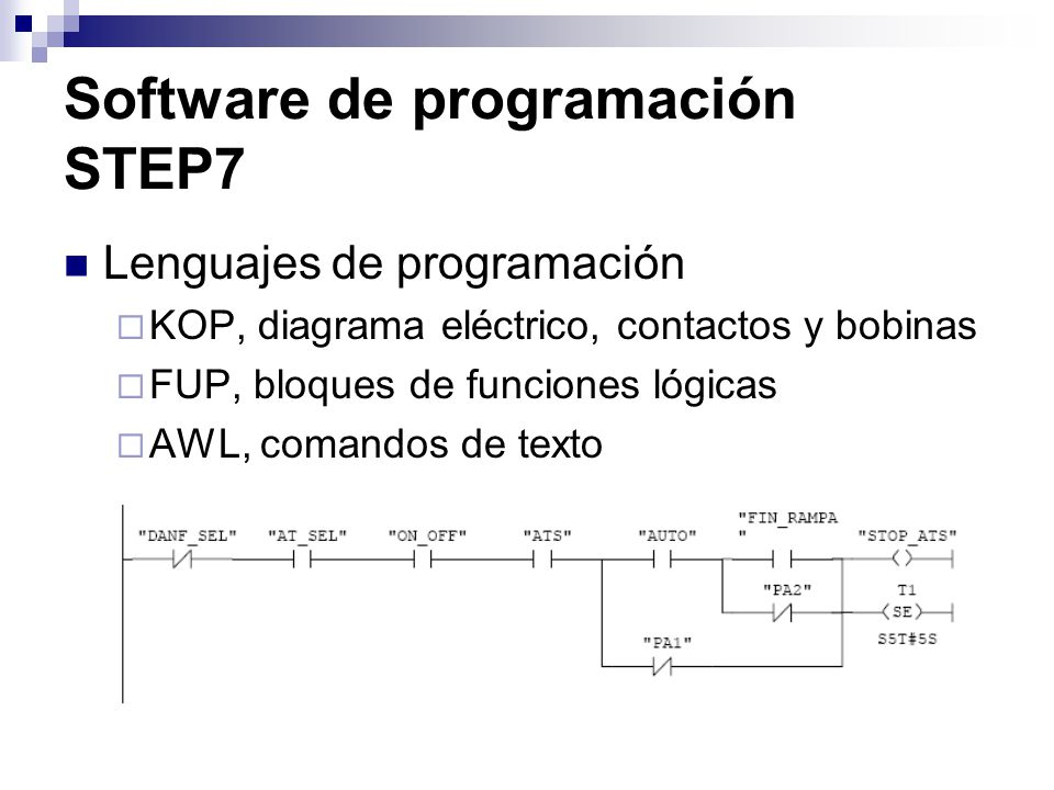 Software de programación STEP7