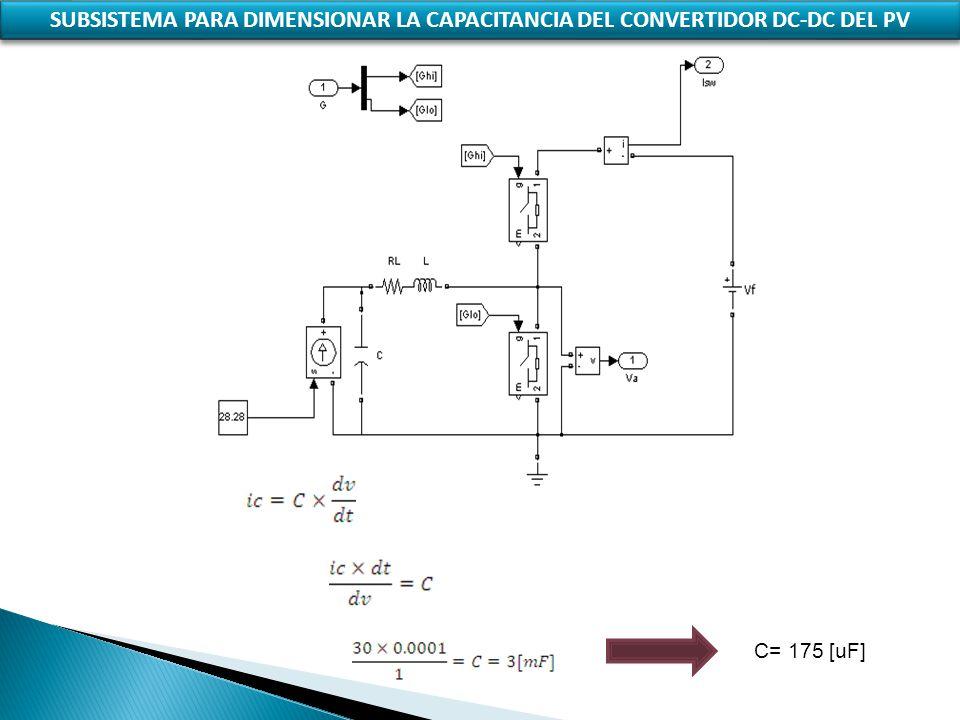 SUBSISTEMA PARA DIMENSIONAR LA CAPACITANCIA DEL CONVERTIDOR DC-DC DEL PV