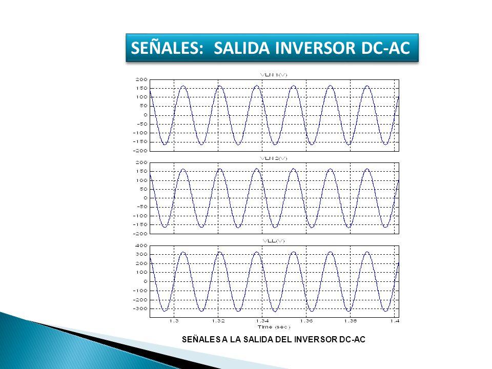 SEÑALES: SALIDA INVERSOR DC-AC