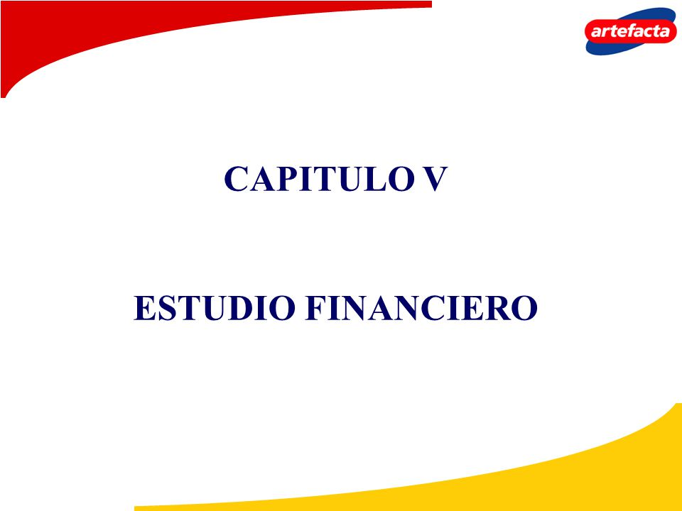 CAPITULO V ESTUDIO FINANCIERO