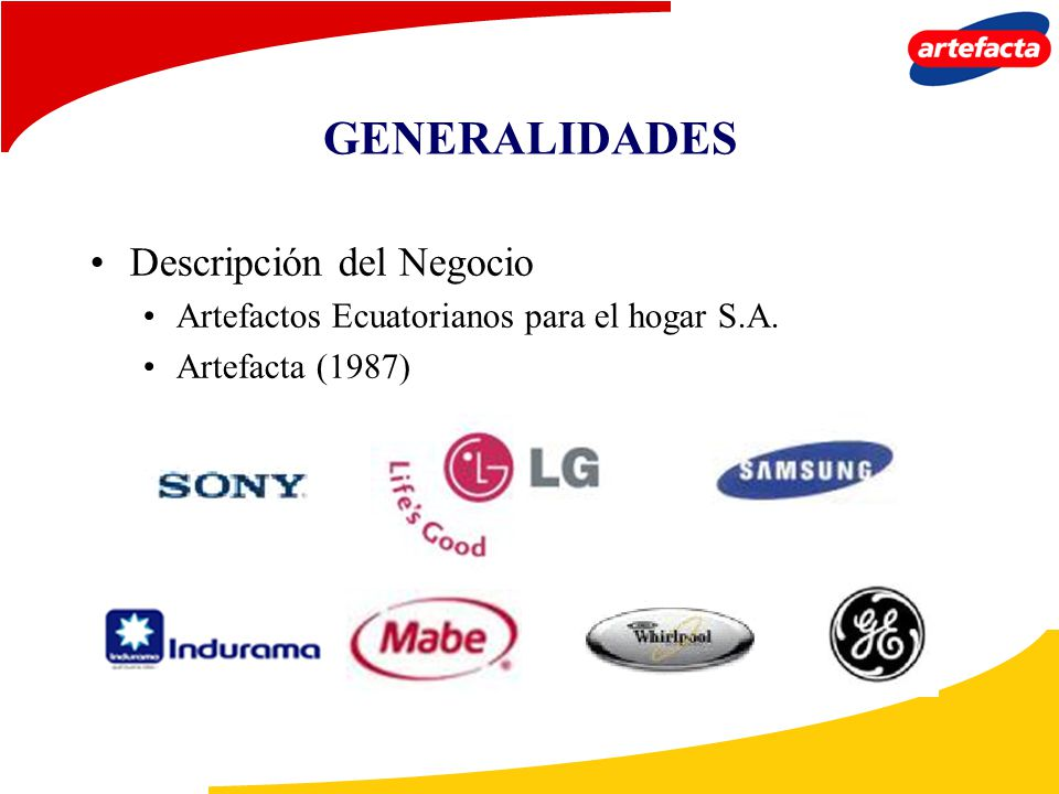 GENERALIDADES Descripción del Negocio
