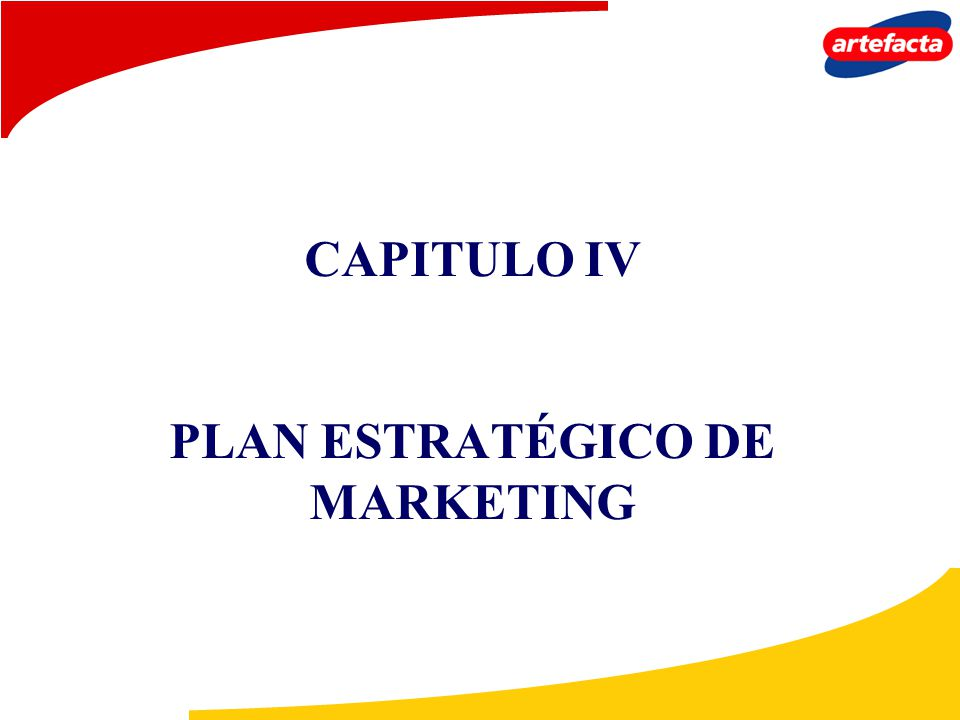 CAPITULO IV PLAN ESTRATÉGICO DE MARKETING