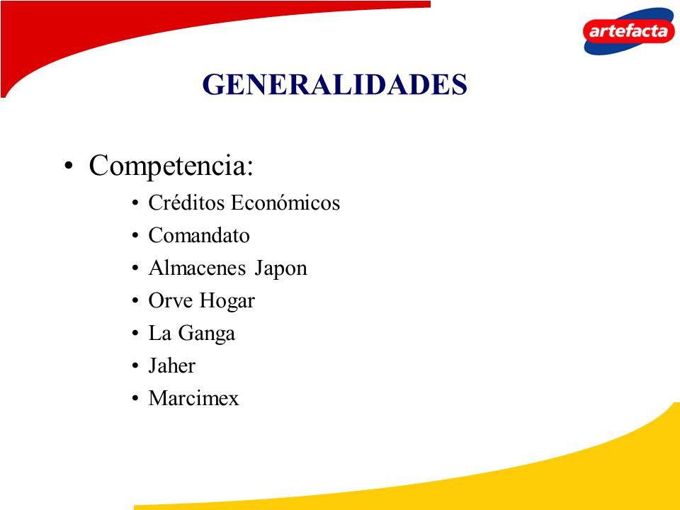GENERALIDADES Competencia: Créditos Económicos Comandato