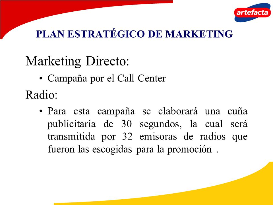 PLAN ESTRATÉGICO DE MARKETING