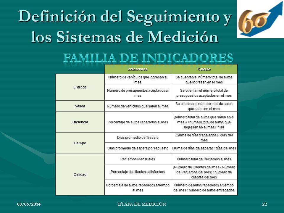 Definición del Seguimiento y los Sistemas de Medición