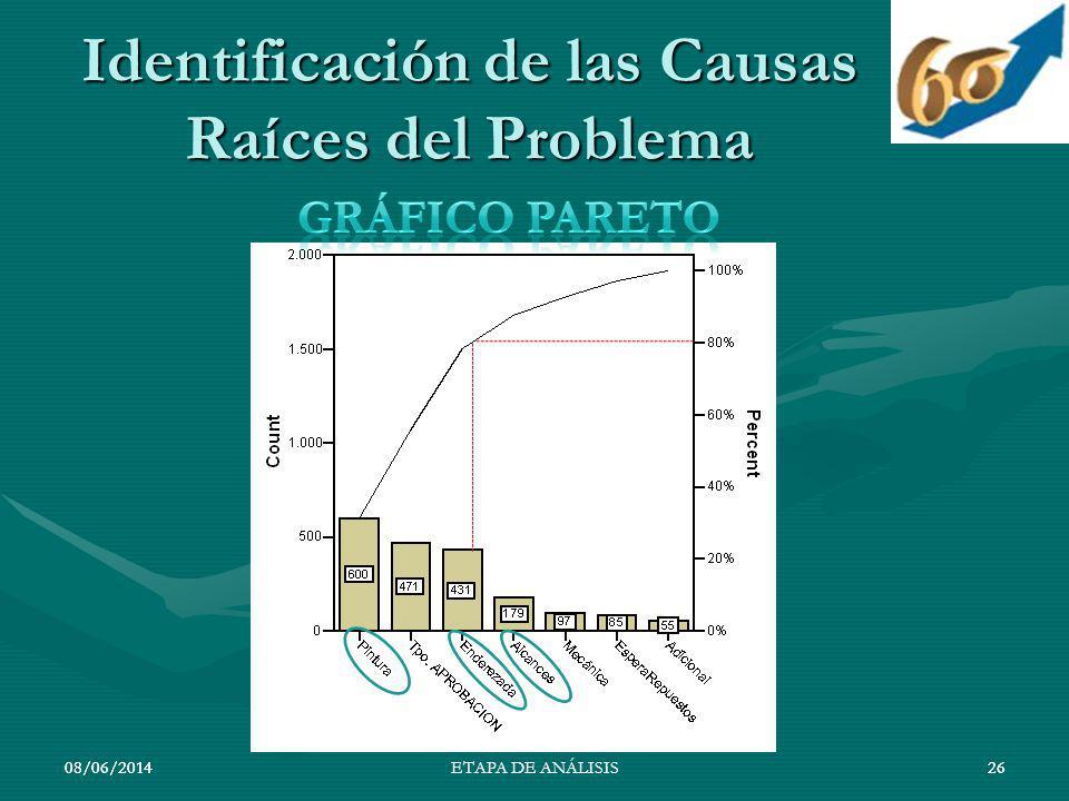 Identificación de las Causas Raíces del Problema