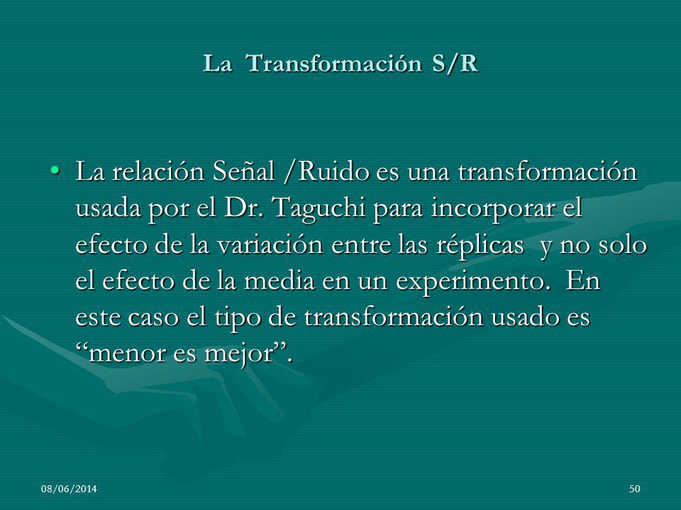 La Transformación S/R