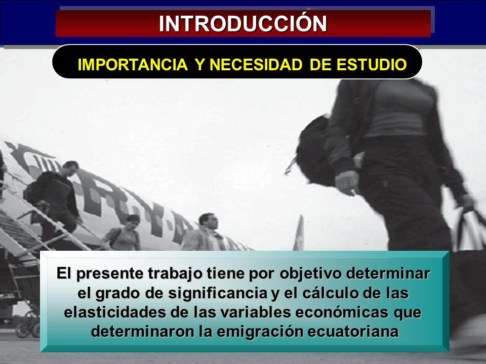 INTRODUCCIÓN IMPORTANCIA Y NECESIDAD DE ESTUDIO
