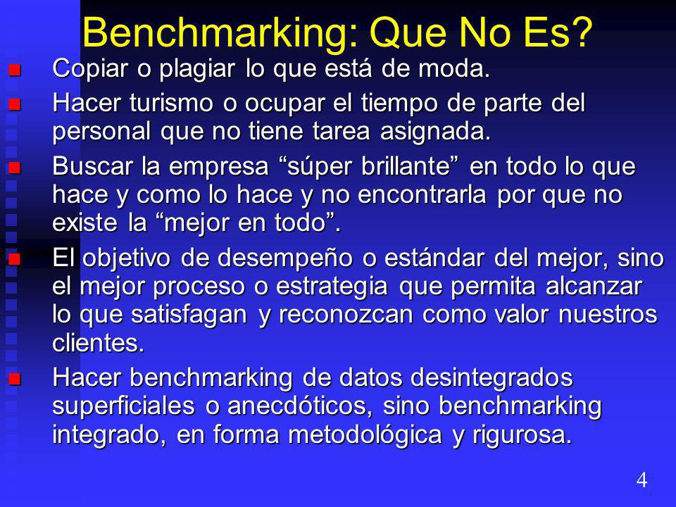 Benchmarking: Que No Es