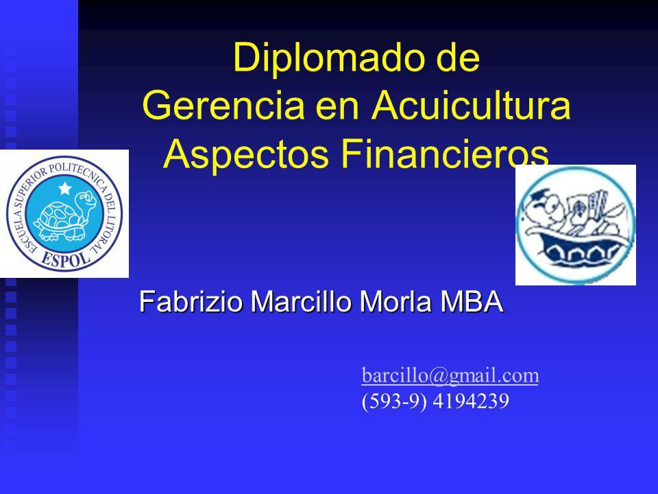 Diplomado de Gerencia en Acuicultura Aspectos Financieros