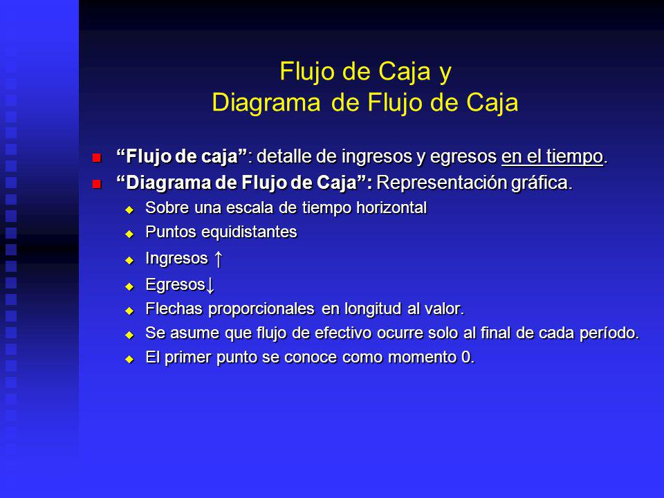 Flujo de Caja y Diagrama de Flujo de Caja