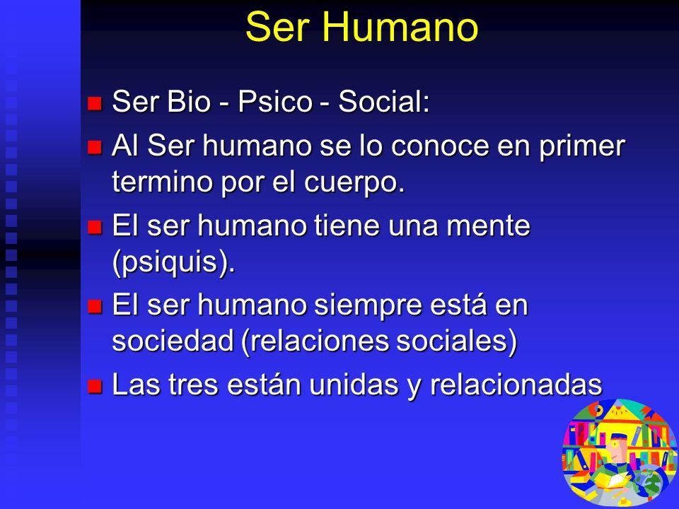 Ser Humano Ser Bio - Psico - Social: