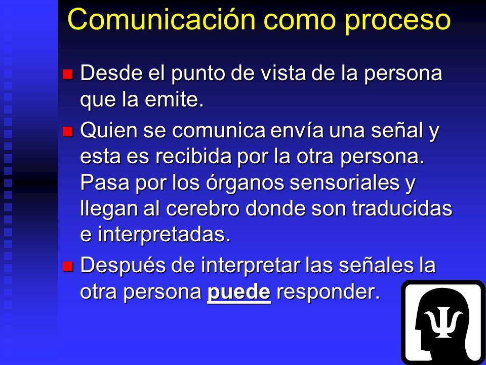 Comunicación como proceso