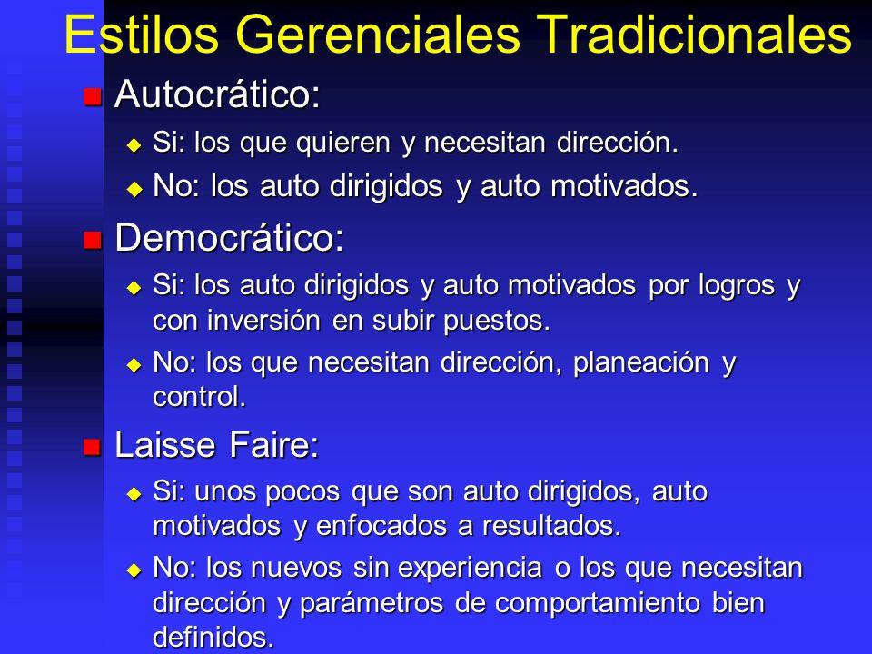 Estilos Gerenciales Tradicionales